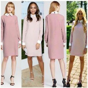 Blush pink shift dress